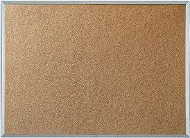 Quartet Economy Cork Bulletin Board, Aluminum Frame, 4 X 3 Feet (3413836348)