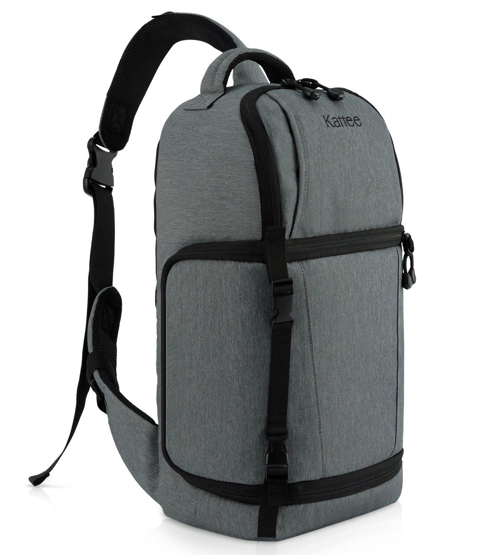 Kattee Waterproof DSLR Camera Bag Sling Backpack(Dark Gray) by Kattee
