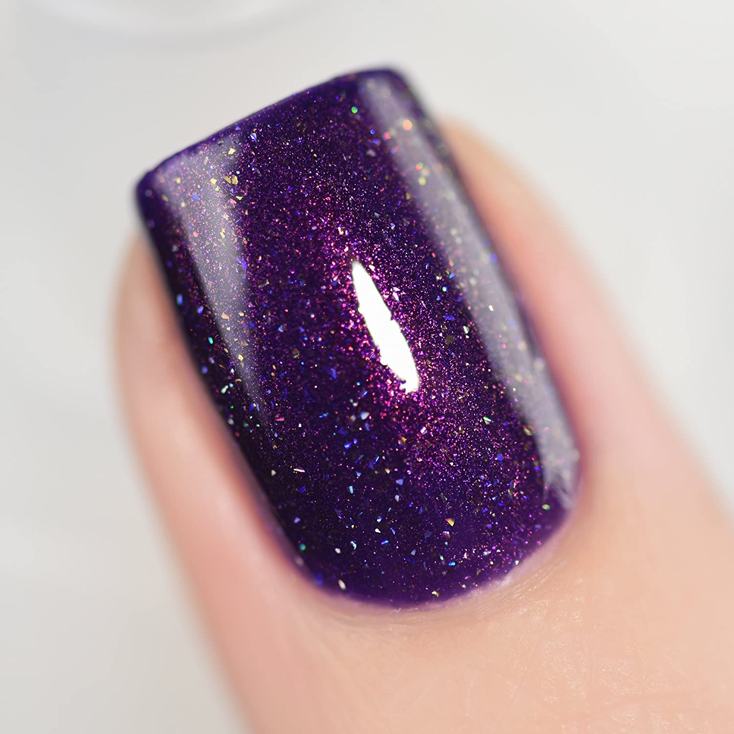 Amazon.com : ILNP Storytelling - Sultry Dark Purple Holographic Nail ...