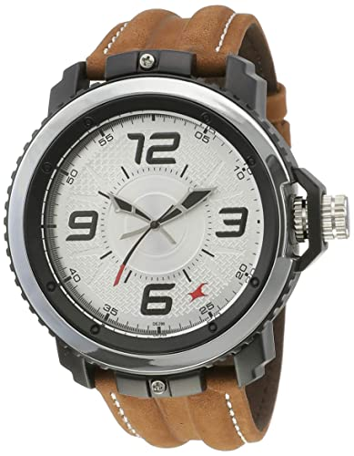 1. Fastrack Analog Silver Dial Men's Watch-NK38017PL02