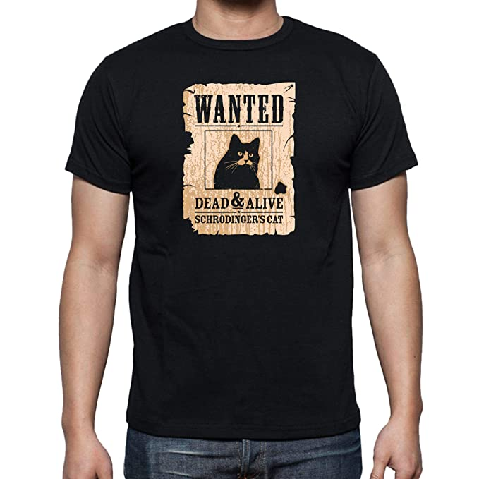 The Fan Tee Camiseta de Hombre Ciencia Gato Schrodinger ...