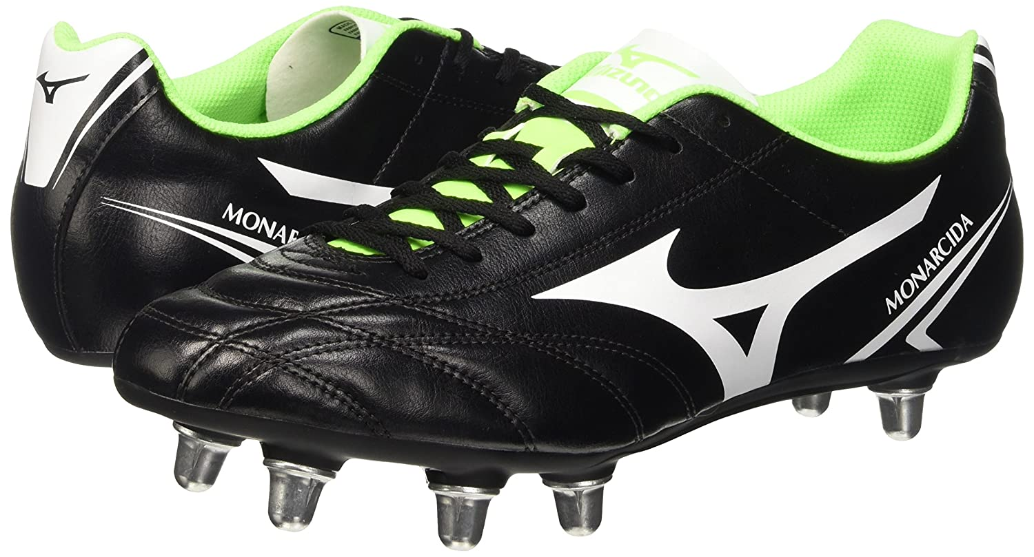 Amazon.com: Mizuno Monarcida SI 8 Stud Rugby Boots - US 7.5 - Black/Green: Shoes