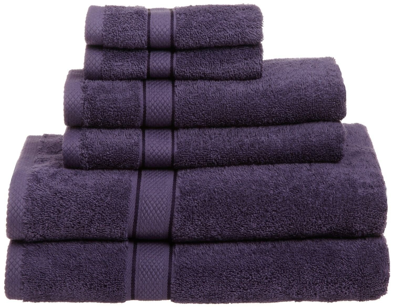 Juego de toallas de baño de 6 piezas, 100% algodón egipcio 725, color morado: Amazon.es: Hogar