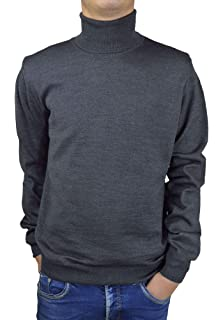 Iacobellis - Pull à col roulé - Pullover Homme - Laine Mérinos Extrafine -  Made in 848052bb2554