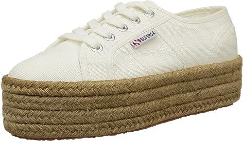 Superga 2790 Suola Donna Scarpe di Tela IN Bianco Misura UK