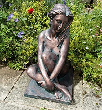 Large Bronze Garden Statues Naked Woman Figure Sculpture Amazon