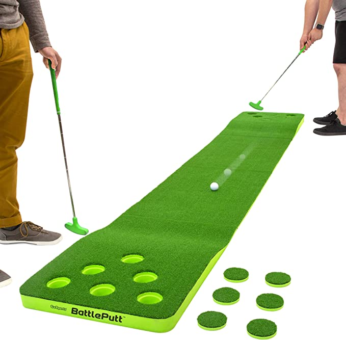 Amazon.com : GoSports Battleputt Golf Putting Game, 2-on-2 Pong Style Play with 11' Putting Green, 2 Putters and 2 Golf Balls : Sports & Outdoors