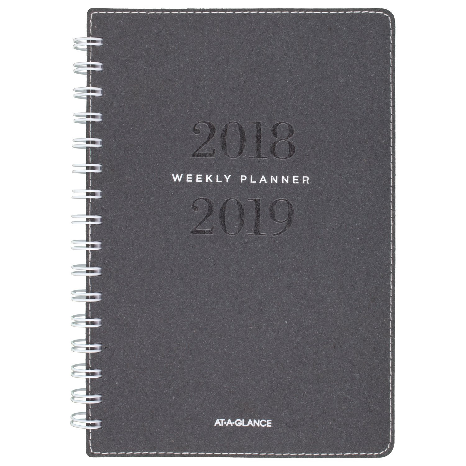 AT-A-GLANCE 2018-2019 Academic Year Weekly & Monthly Planner, Small, 5-3/4 x 8-1/2, Signature Collection, Heather Gray (YP200A45) ACCO Brands YP200A4519