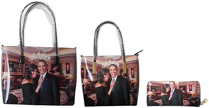 3 in 1 Purse Gift Set President Barack Obama /& First Lady Michelle