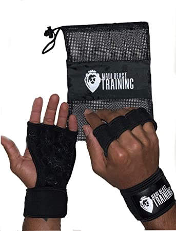 Powergrip Padded Weight Lifting Gym Training Gym Straps Hand Wrap Wrist Support