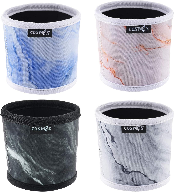 CM Reusable Coffee Sleeve Mug Sleeve Cup Sleeve Heat Resistant Neoprene Insulator Sleeve for Coffee Tea Hot Cold Beverage, 4 Pcs