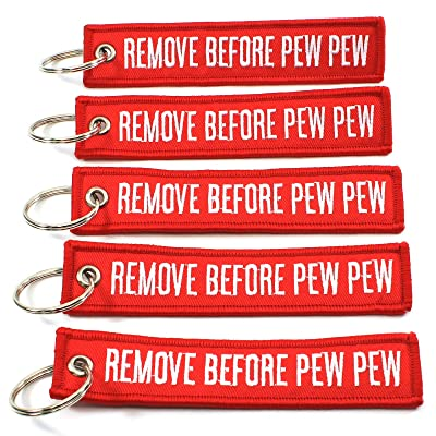 Rotary13B1 Remove Before PEW PEW - 5 Pack Key Chains: Sports & Outdoors