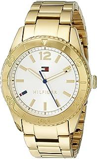 Tommy Hilfiger Womens 1781268 Casual Sport Analog Display Quartz Gold Watch