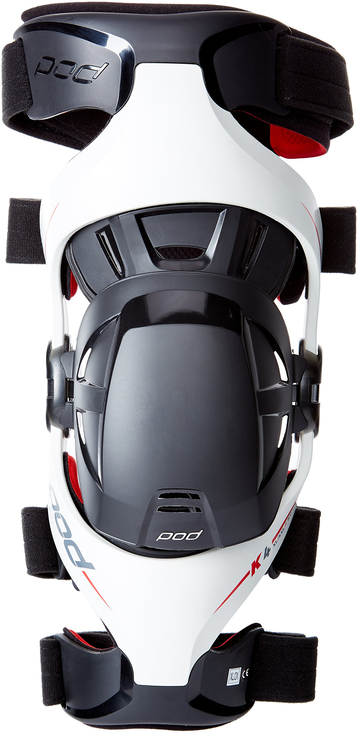 POD K4015-595-XL/2X Unisex-Adult K4 Knee Brace (Grey/Red, X-Large/XX-Large) (Right)