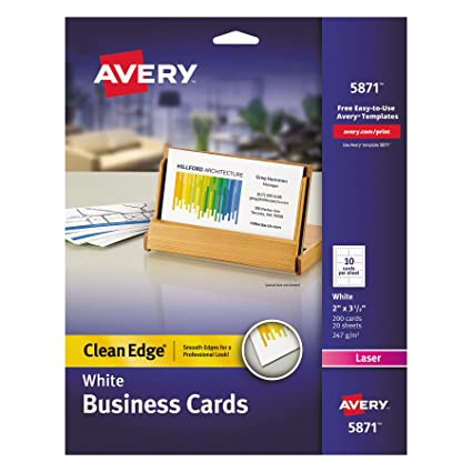 Amazon Avery Printable Two Side Clean Edge Business Cards For