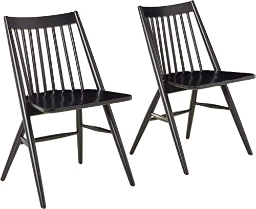 Safavieh Home Collection Wren Black 19-inch Spindle Dining Chair Set of 2