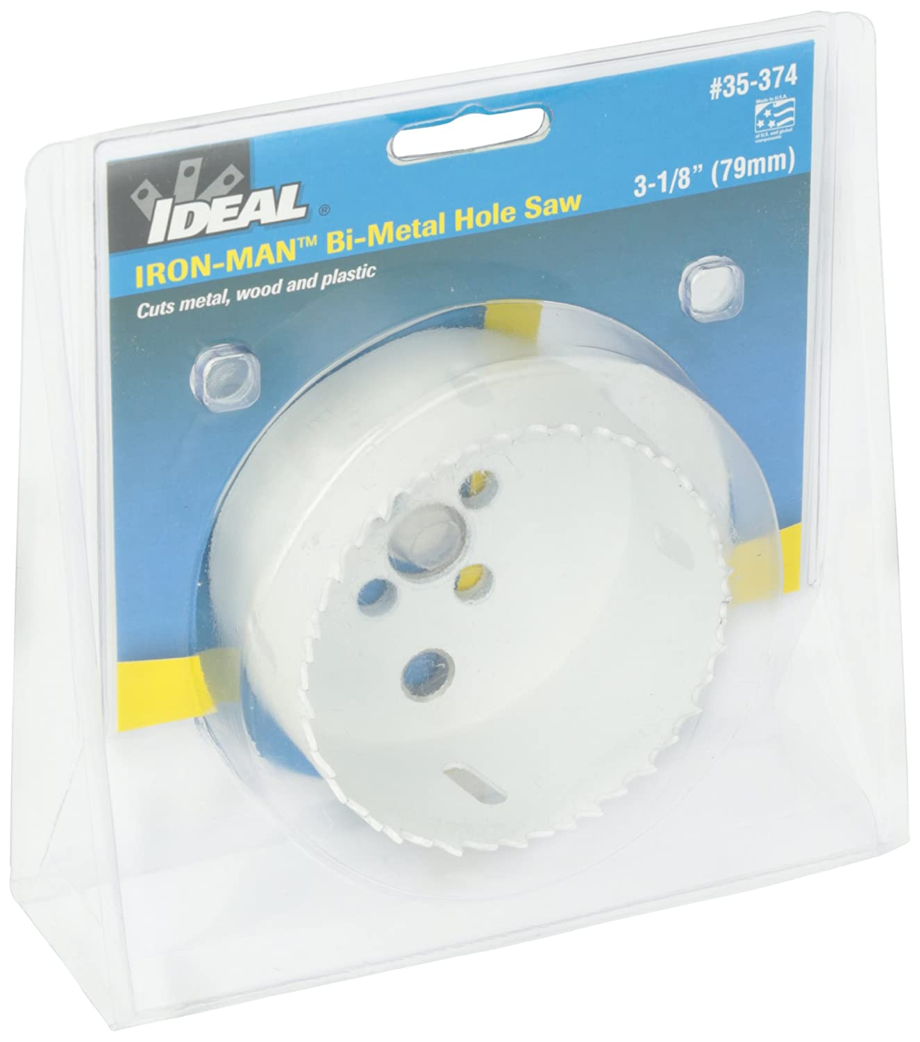 Ideal Industries Ironman Bi-Metal Hole Saws 1-7//16 Diameter