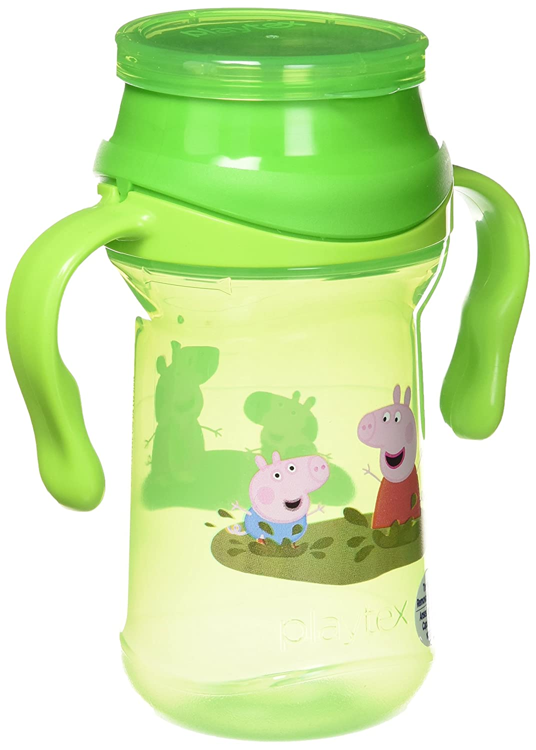 Playtex Baby Sipsters Spill-Proof Peppa Pig Spoutless 360 Training Cup with Removable Handles, Stage 1 (4+ Months), Pack of 1 Kids Cup Edgewell Personal Care 24934