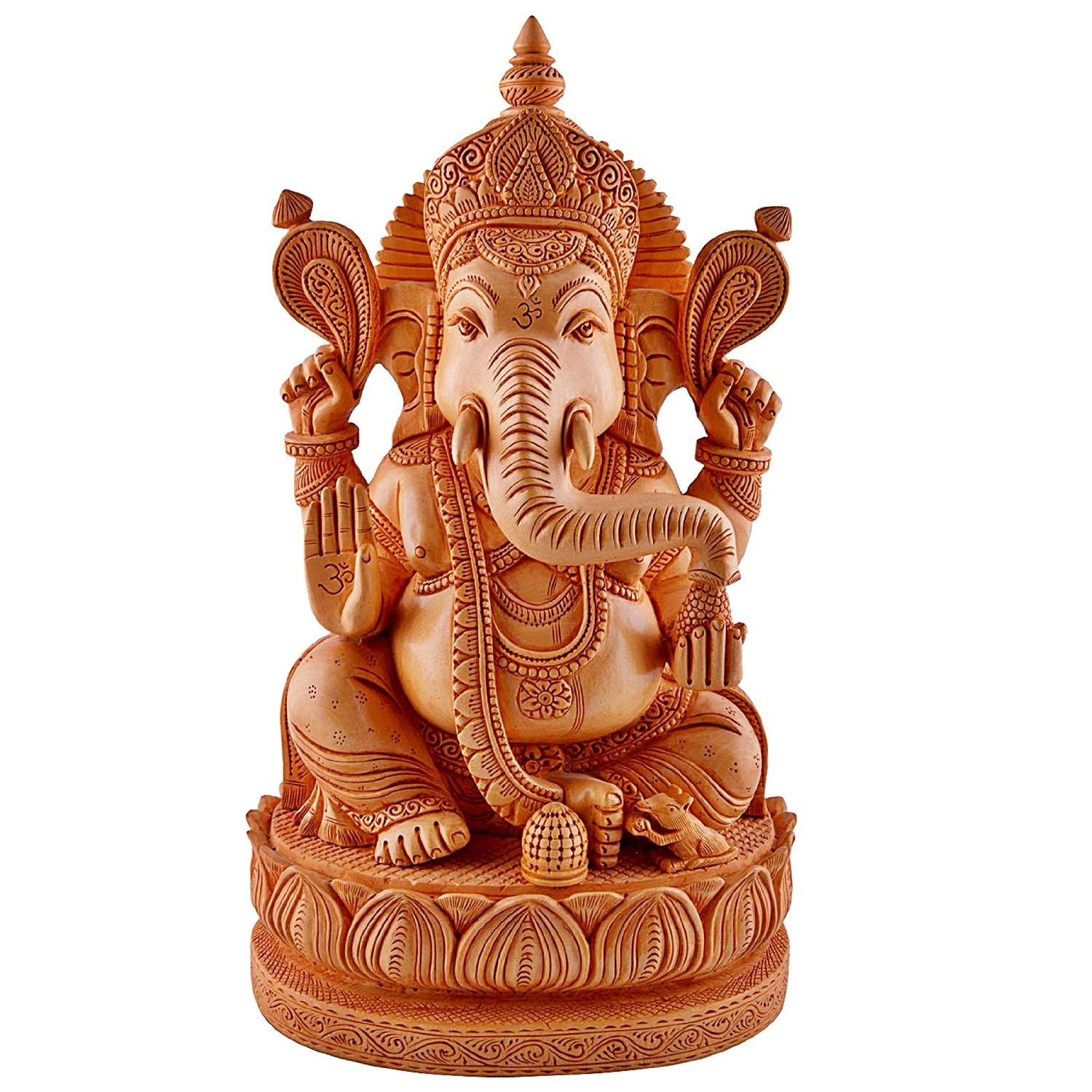 Amazon.com: large 1 feet ganesh ganesha idol statue wooden hand