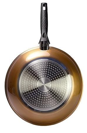 Ecolution EBCMW-5120 Bliss - Sartén de inducción antiadherente de cerámica y cobre de 20 cm: Amazon.es: Hogar