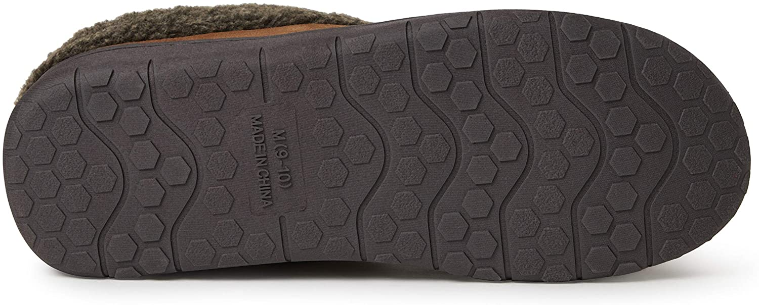 EZ Feet Mens Faux Suede or Felted Clog Indoor//Outdoor Breathable Memory Foam Slipper