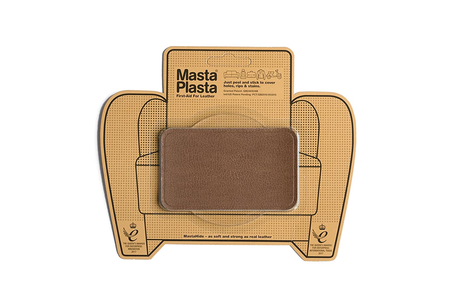Tan MastaPlasta Self-Adhesive Leather Repair Patches. Choose ...