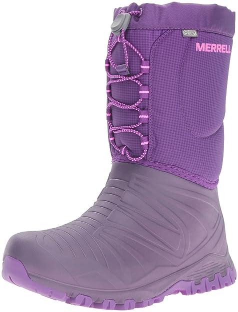 9e514807c7 Merrell Girls Snow Quest Lite WTRPF Waterproof Snow Boot (Little Kid/Big  Kid)