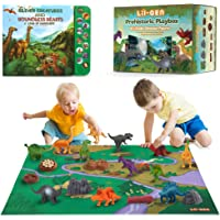 Li'l-Gen Dinosaur Toys w/ Interactive Sound Book and Activity Play Mat for Boys & Girls 3 Years Old & Up - Realistic…