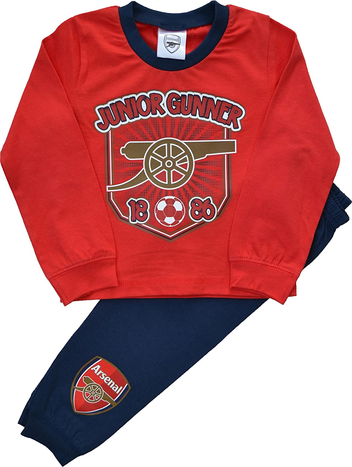 Boys Arsenal Football Club Junior Gunners Pyjamas Sizes 12 Months to 4 Years
