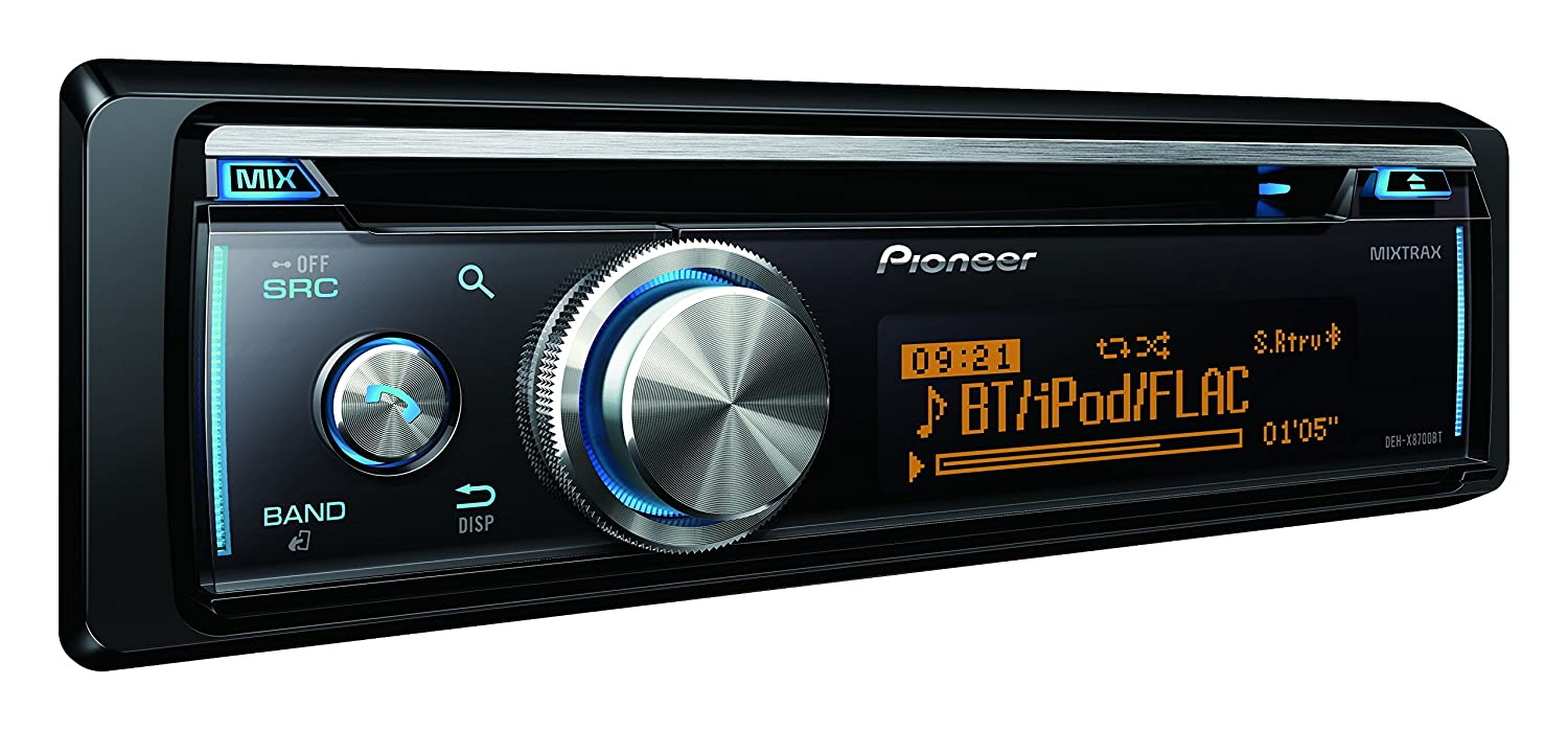 pioneer deh x8700bt car stereo with bluetooth cd usb and. Black Bedroom Furniture Sets. Home Design Ideas