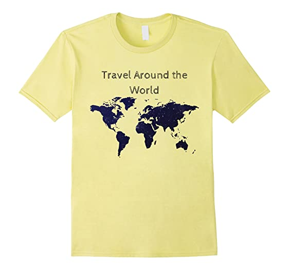Amazon travel around the world rtw world map t shirt clothing mens travel around the world rtw world map t shirt 2xl lemon gumiabroncs Gallery