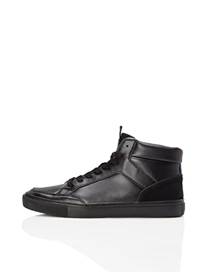 08d3f276849f FIND Leather Cupsole Men s Hi-Top Trainers  Amazon.co.uk  Shoes   Bags