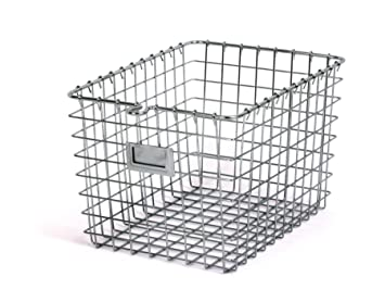 Lovely Spectrum Diversified Wire Storage Basket, Small, Chrome