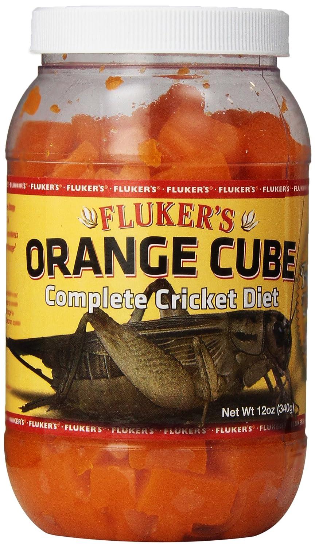 Fluker's 71301 Orange Cube Complete Cricket Diet, 12 oz Fluker' s