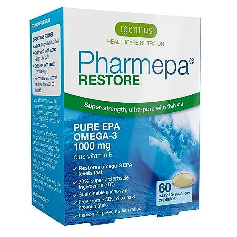Pharmepa RESTORE aceite de pescado omega-3 de grado farmacéutico, omega-3 EPA