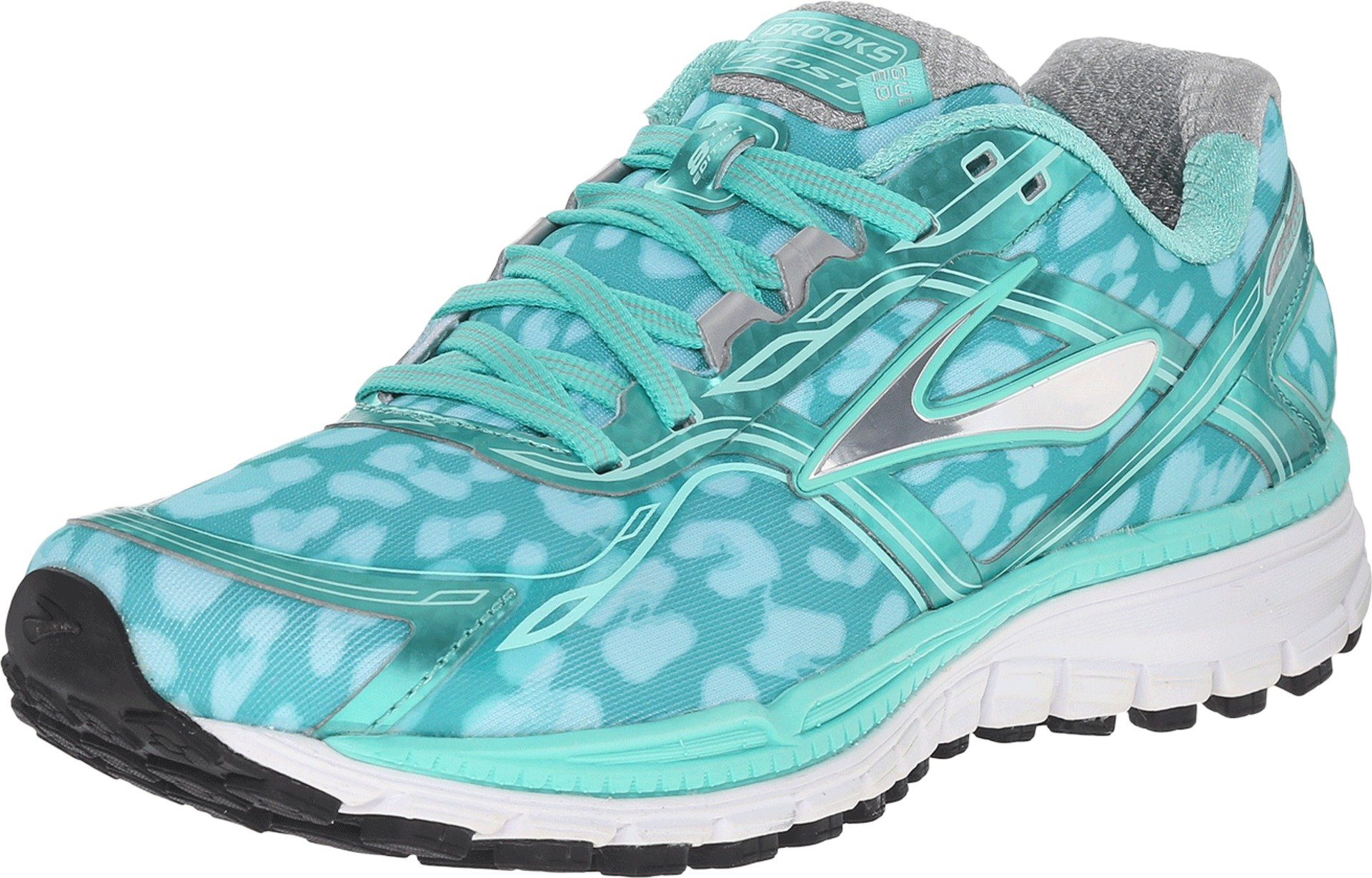 Brooks Women's Ghost 8 Electric Green/Beach Glass/Silver Athletic Shoe by Brooks