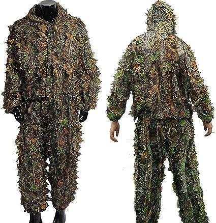 con hojas 3D Traje de camuflaje Zicac para adultos y exteriores