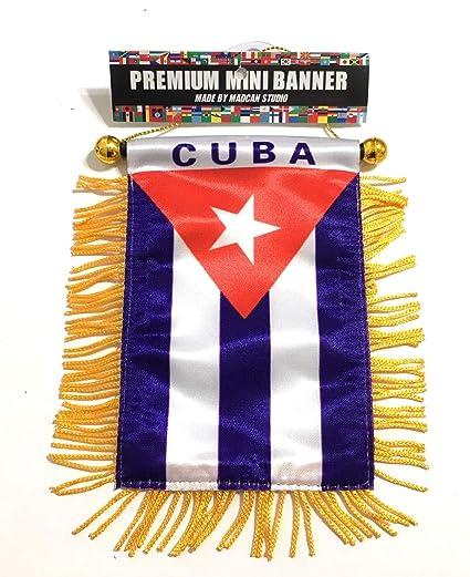 Amazon.com: La bandera de Cuba, mini bandera de tamaño pequeño para el automóvil o uso doméstico, bandera cubana, orgullo cubano: Home & Kitchen