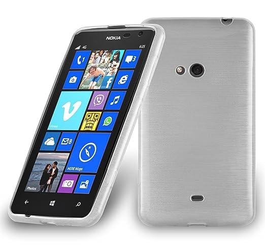9 opinioni per Cadorabo- Custodia silicone TPU Nokia Lumia 625 Design: METALLO SPAZZOLATO