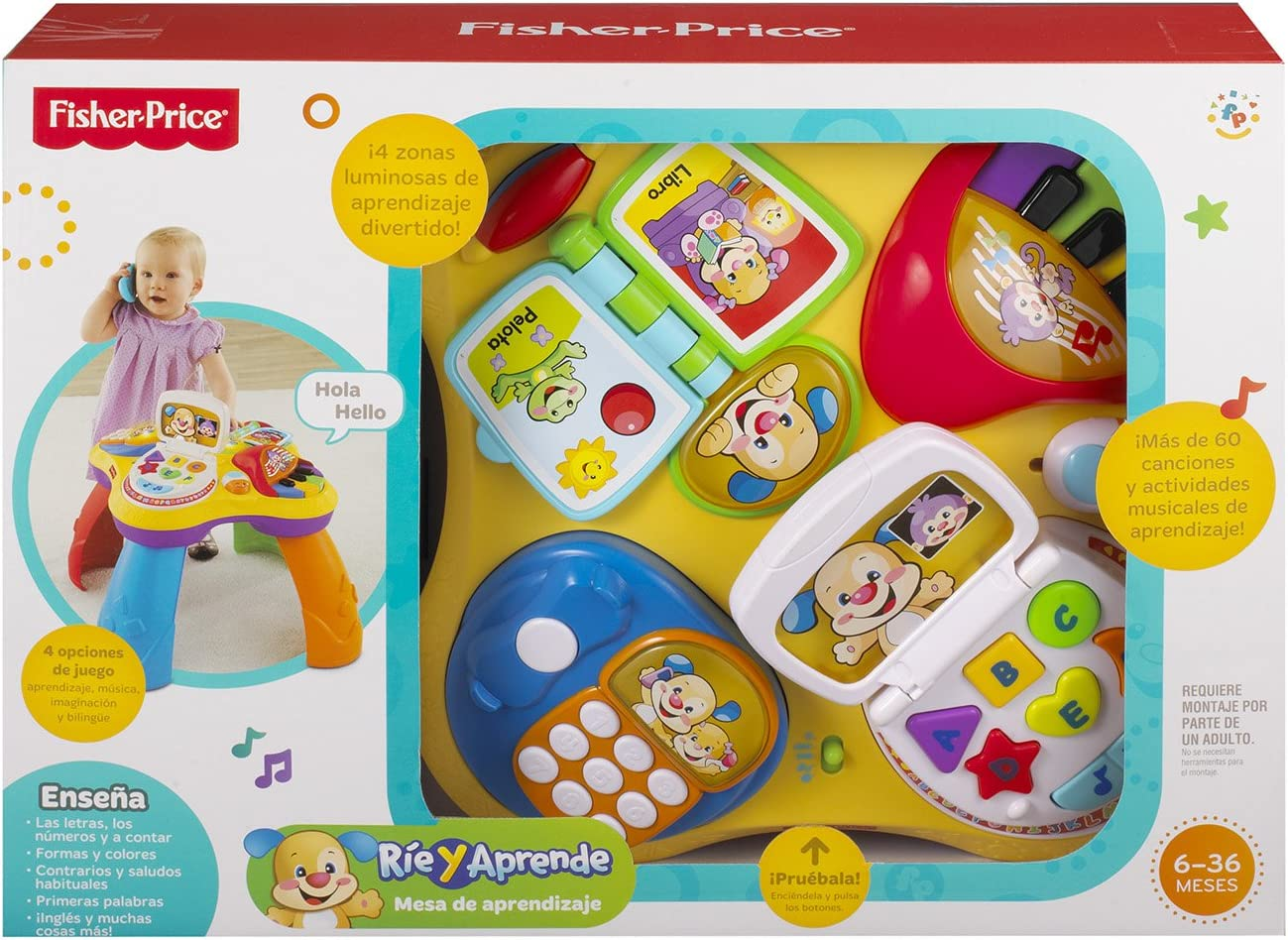 Fisher-Price - Mesa Aprendizaje Perrito (Mattel Y7759): Amazon.es ...