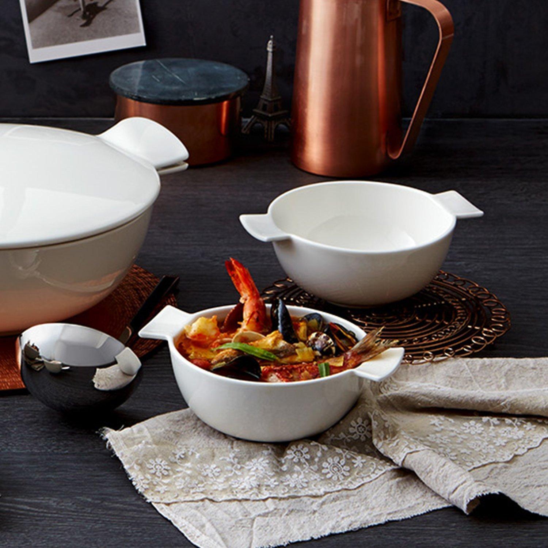 Wei/ß Villeroy /& Boch Soup Passion Terrine f/ür eine Person Premium Porzellan