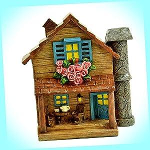 "New Touch of Nature 5"" x 4.5"" Cottage Fairy Garden Miniature Garden Dollhouse Magic Scene Supplies Accessories Dia-#0767N"