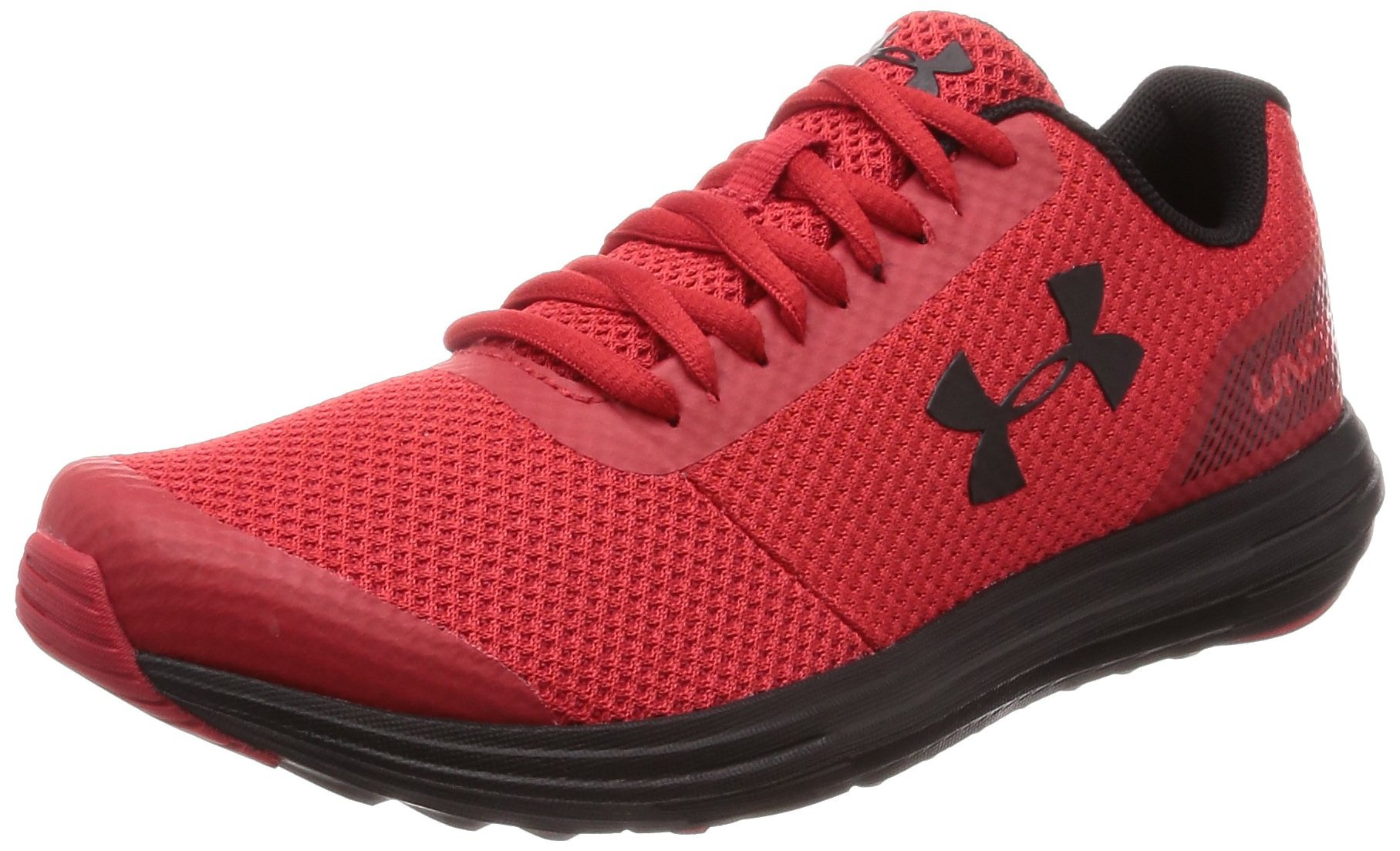 Under Armour Boys' Grade School Surge RN Sneaker Red (600)/Black 4 by Under Armour (Image #1)