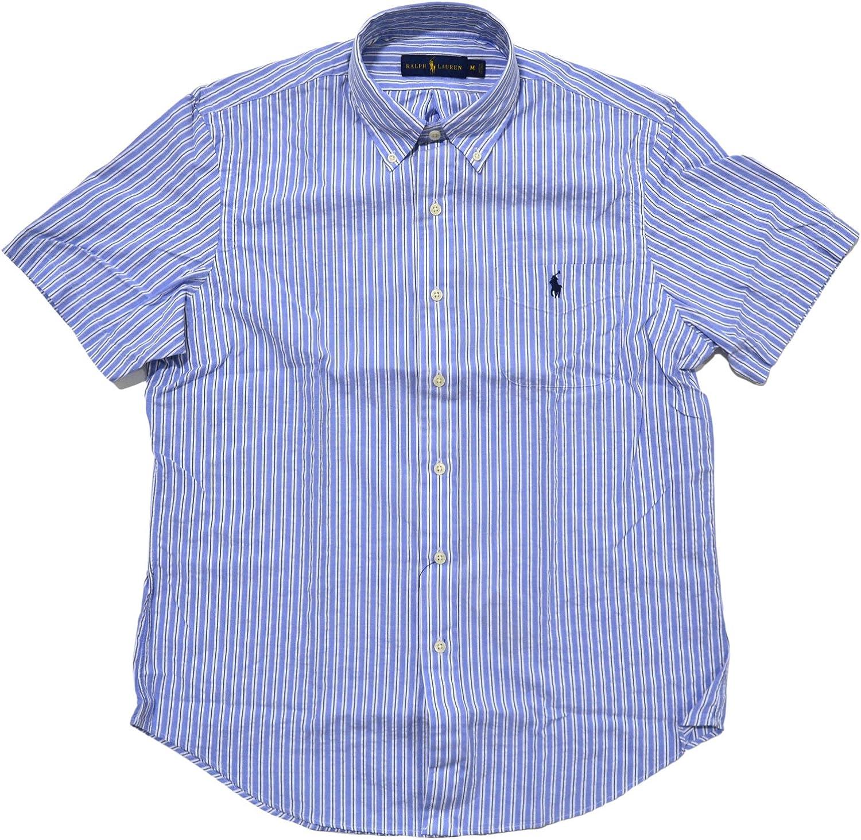 Polo Ralph Lauren Mens Short Sleeve Seersucker Buttondown Shirt