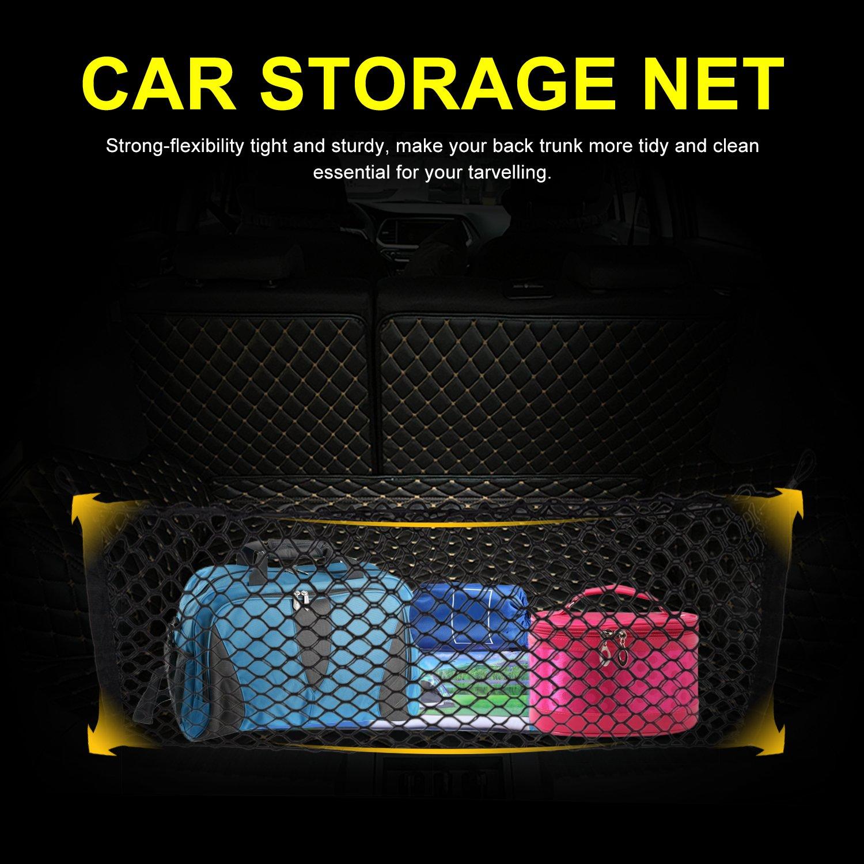 Yosoo 40 X 16 Universal Trunk Cargo Net,Flexible Mesh Trunk Storage Net