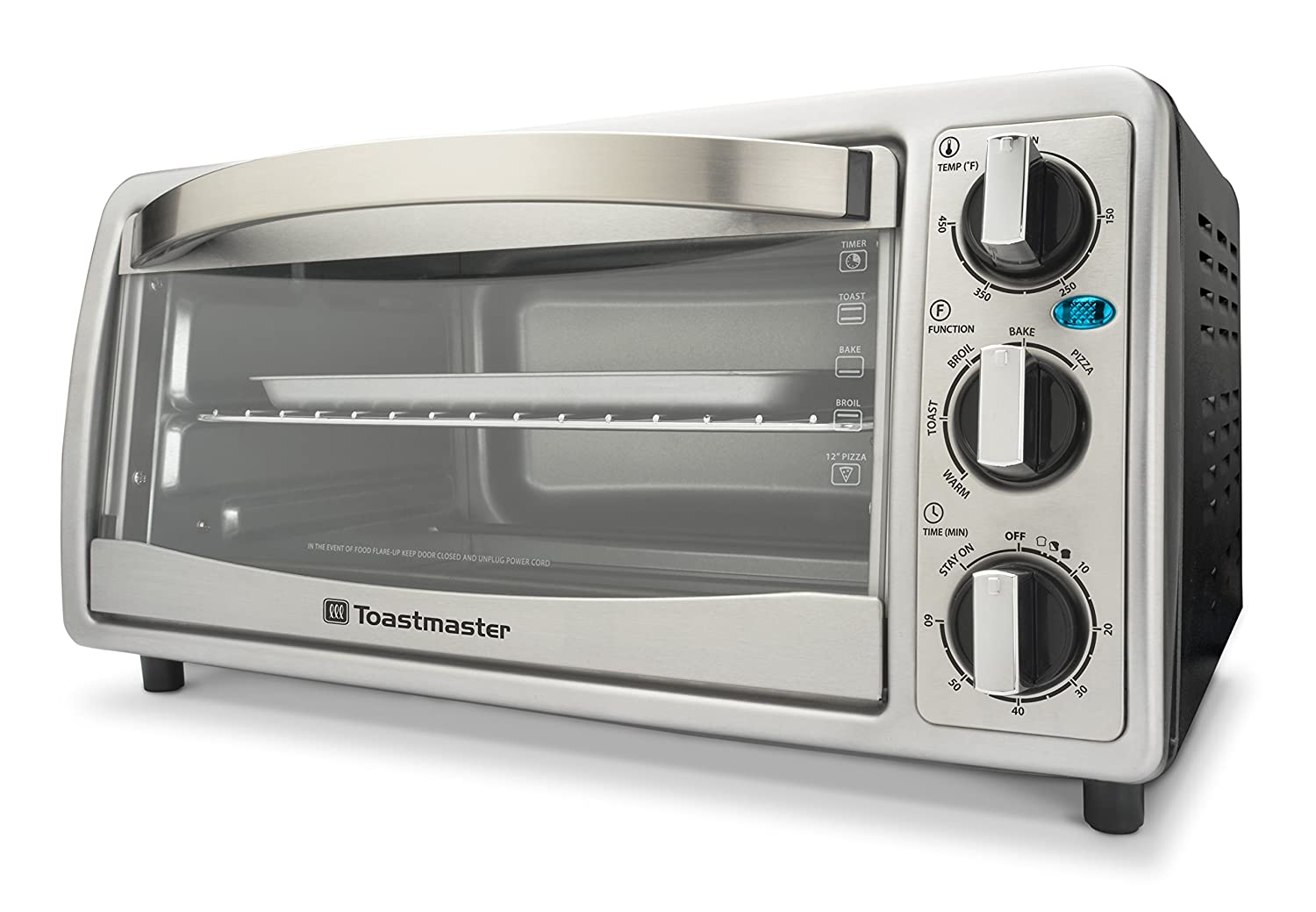 Toastmaster TM-183TR, 6-Slice Toaster Oven, Silver