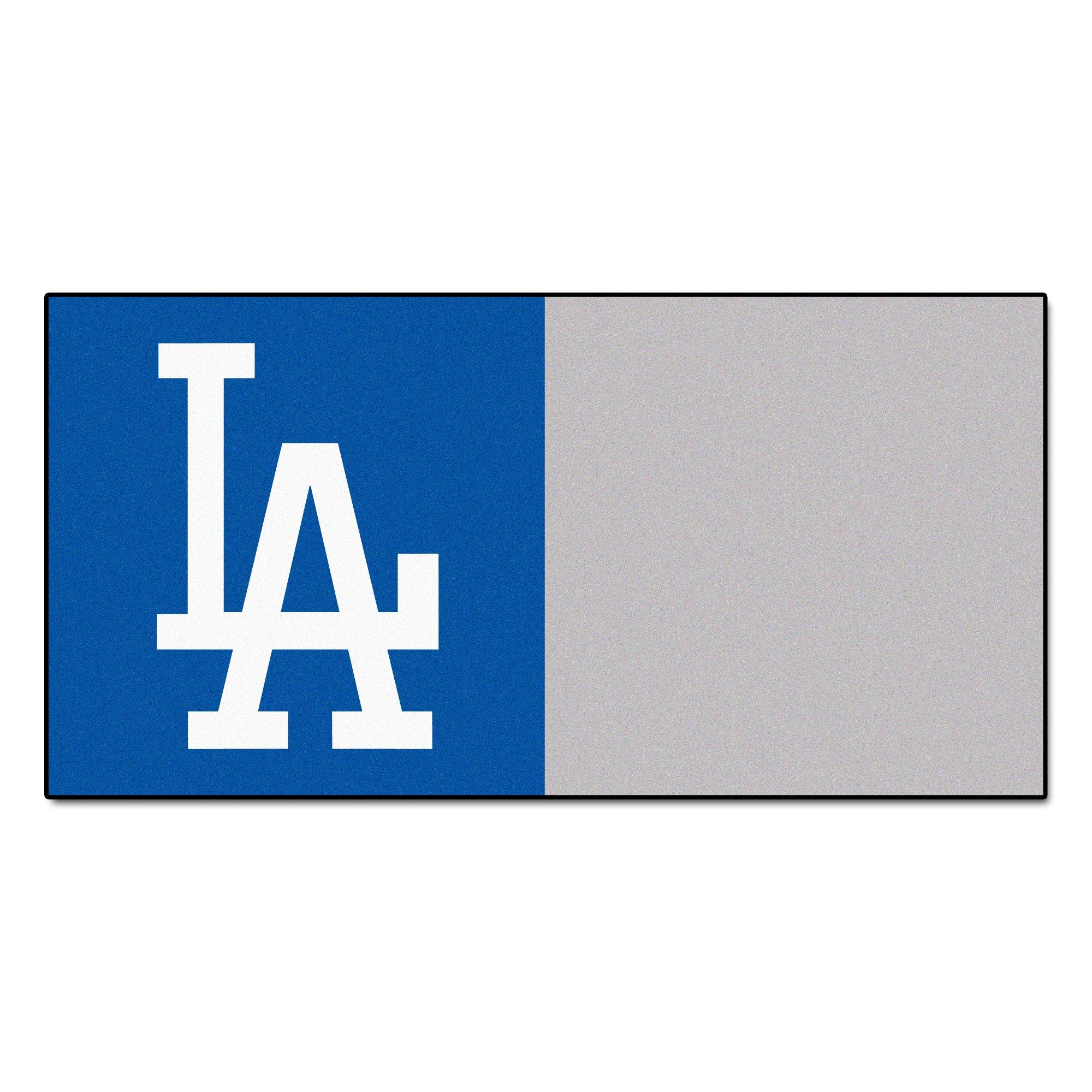 FANMATS MLB Los Angeles Dodgers Nylon Face Team Carpet Tiles by Fanmats