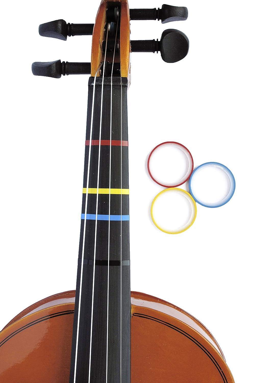 Amazon.com: 3 Mini Color Violin Fingering Tape for Fretboard Note ...