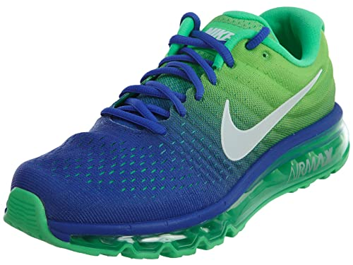 6f16c7d110 Nike Mens Air Max 2017 Running Shoes Paramount Blue/White/Electro Green  849559-403 Size 8. 5: Buy Online at Low Prices in India - Amazon.in