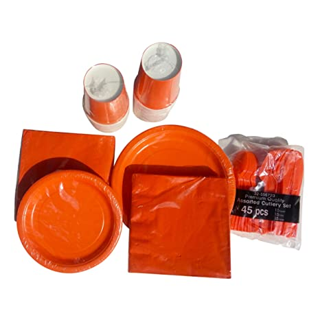 Thanksgiving PlatesNapkins Cultery Disposable Paper Plates Dinnerware Set (Large Orange Only)  sc 1 st  Amazon.com & Amazon.com: Thanksgiving PlatesNapkins Cultery Disposable Paper ...